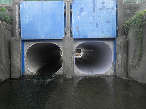 藤野排水樋管補修工事