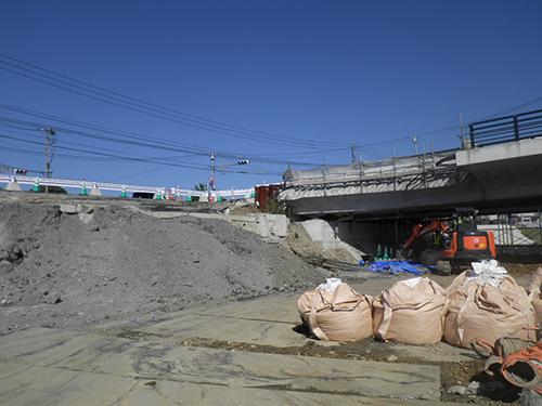 境口頓野線勘六橋下部工撤去・設置工事